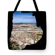 View From Inside Of The Gibraltar Rock Tote Bag
