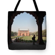 View From Inside The Red Fort With Tourist Tote Bag