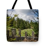 View From Picket Fence Tote Bag