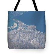 View From Space Of San Diego Tote Bag