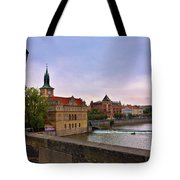 View From The Charles Bridge Revisited Tote Bag by Madeline Ellis