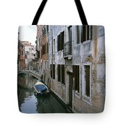 View Of A Canal In A Quiet Residential Tote Bag