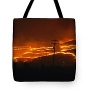 View Of A Forest Fire Near Boise, Idaho Tote Bag