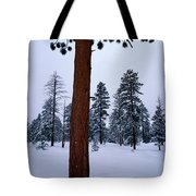 View Of A Ponderosa Pine Surrounded Tote Bag