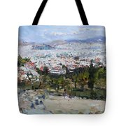 View Of Athens From Acropolis Tote Bag