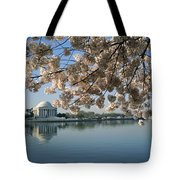 View Of Cherry Blossoms Tote Bag