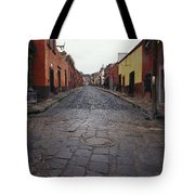 View Of Cobblestone Streets In San Tote Bag