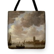 View Of Dordrecht Downstream From The Grote Kerk Tote Bag