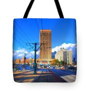 View Of Downtown Buffalo From The Tracks Tote Bag