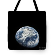 View Of Earth Taken From The Aollo 8 Tote Bag