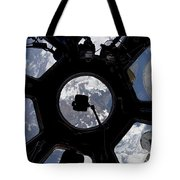 View Of Earth Through The Cupola Tote Bag