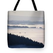 View Of Fog-covered Willamette Valley Tote Bag