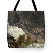 View Of Hiking Trails From High Above Tote Bag