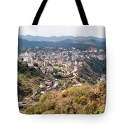 View Of Katra Township While On The Pilgrimage To The Vaishno Devi Shrine In Kashmir In India Tote Bag