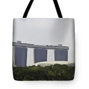 View Of Marina Bay Sands And Esplanade Building In Singapore Tote Bag