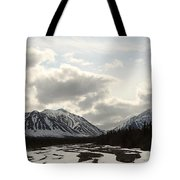 View Of Quill Creek In Kluane National Tote Bag