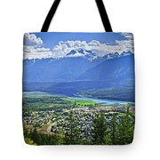 View Of Revelstoke In British Columbia Tote Bag by Elena Elisseeva