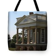 View Of South Portico At Poplar Forest Tote Bag