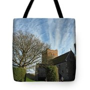View Of St Mary Church And Clouds In Dover Castle Tote Bag