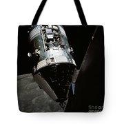 View Of The Apollo 17 Command Tote Bag