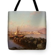 View Of The Bay Of Naples Tote Bag