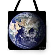 View Of The Earth From Space Showing Tote Bag by Stocktrek Images