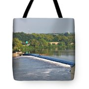 View Of The Fairmount Dam  Tote Bag