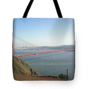 View Of The Golden Gate Bridge And San Francisco From A Distance Tote Bag