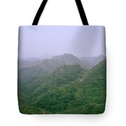 View Of The Great Wall Of China Tote Bag