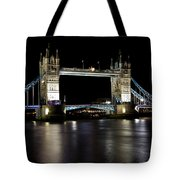 View Of The River Thames And Tower Bridge At Night Tote Bag