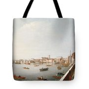 View Of The River Thames From The Adelphi Terrace  Tote Bag