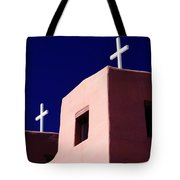 View Of The Shadowed Walls Of An Adobe Tote Bag