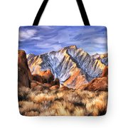 View Of The Sierras Tote Bag