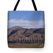 View Of Windmill Structures On A Wind Tote Bag