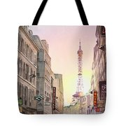 View On Eiffel Tower From Rue Saint Dominique Paris France Tote Bag