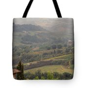 View Over The Tuscan Hills From San Gimignano Italy Tote Bag