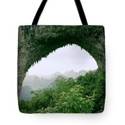 View Through Moon Hill In Guangxi In China Tote Bag
