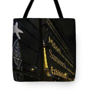 View To The Eiffel Tower Tote Bag