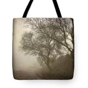 Vigilants Trees In The Misty Road Tote Bag