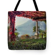 Villa Cipressi Pergola On Lake Como I Tote Bag