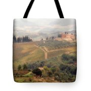 Villa On A Hill In Tuscany Tote Bag