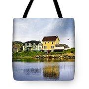 Village In Newfoundland Tote Bag by Elena Elisseeva