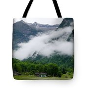 Village In The Alps Tote Bag