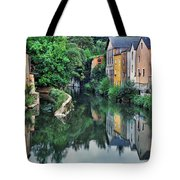 Village Reflections In Luxembourg II Tote Bag