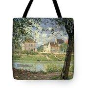 Villeneuve La Garenne Tote Bag by Alfred Sisley