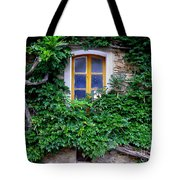 Vine Covered Stone House Tote Bag