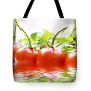 Vine Tomatoes And Salad With Water Tote Bag