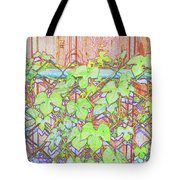 Vines On A Fence Tote Bag