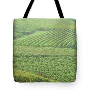Vineyards Near St Emilion In The Mist Tote Bag