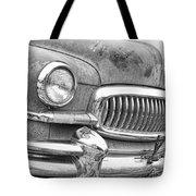 Vintage 1951 Nash Ambassador Front End 2 Bw Tote Bag